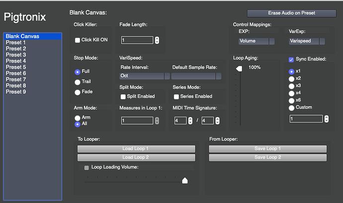 persist Infinity Looper App